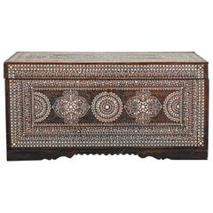 20th Century Large Shell Inlaid Filipino Trunk
