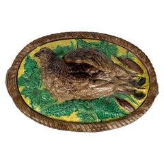 Majolica Partridge Game Pie Dish