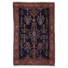 Antique Persian Sarouk Rug with Luxe Jacobean Traditional Style