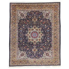 Vintage Persian Tabriz Rug with French Rococo Style