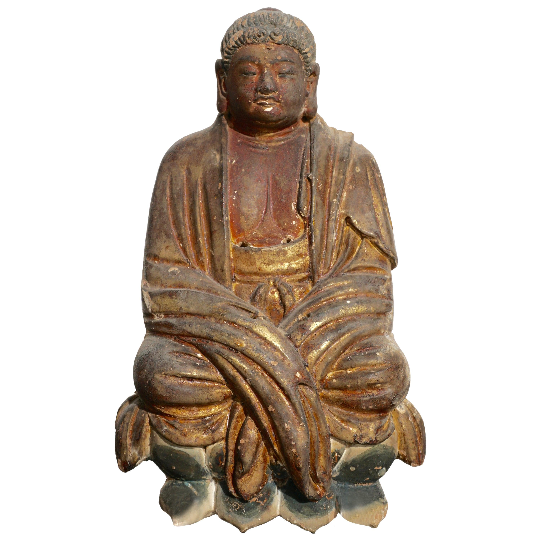 Early Ming Dynasty Chinese Buddha Statue, circa 14th Century