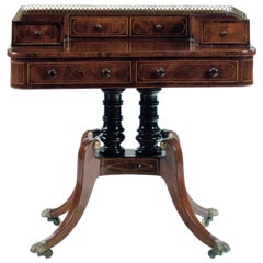Late Regency 19th century mahogany Writing Table / desk