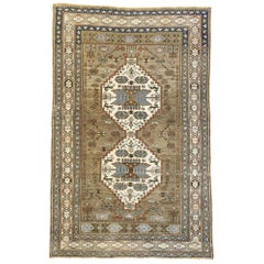 Vintage Turkish Oushak Rug with French Country Tribal Style