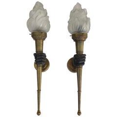 Pair of Atelier Petitot Torchieres,
