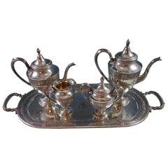Wedgwood by International Sterling Silver Tea Set 5-Piece