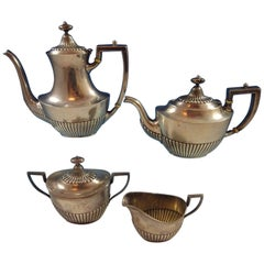 Whiting Sterling Silver Tea Set 4-Piece #5800