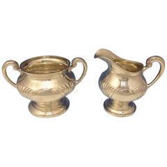 Onslow by Tuttle Sterling Silver Sugar Bowl and Creamer Set of 2-Pieces #1834