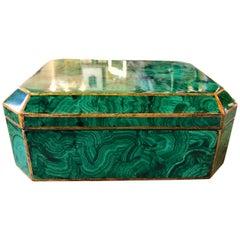 Maitland-Smith Faux Malachite Box