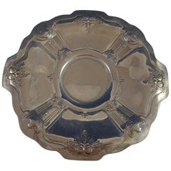 Reed and Barton Sterling Silver Cookie Plate with Chased Urns Fruit #800