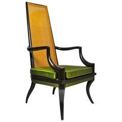 Beau Unique Sculpted Tall Back Chair