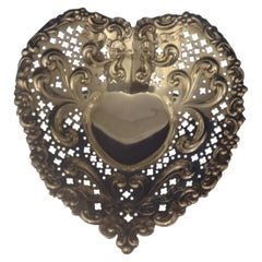 Chantilly by Gorham Sterling Silver Candy Dish Heart-Shaped #966