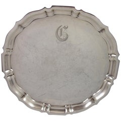 Chippendale by Gorham Sterling Silver Tray Round #42612