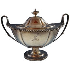 English Silverplate by N B & S Soup Tureen with Silverplate on Copper