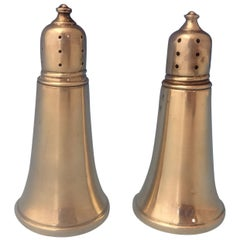 Revere Sterling Silver Salt and Pepper Shakers 2-Piece Glass Lined