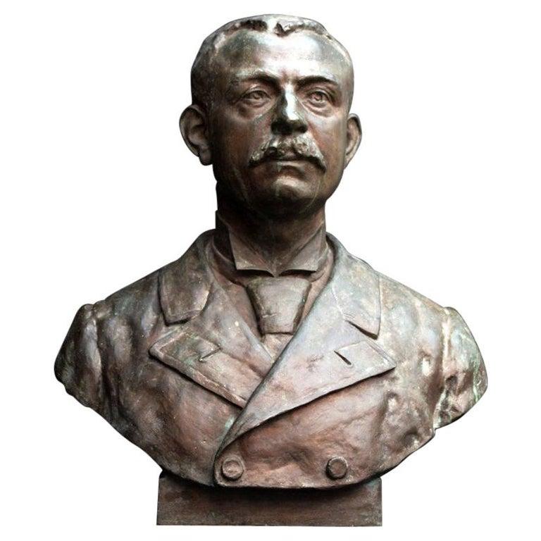 Emile Daviol Signed Bronze Bust For Sale