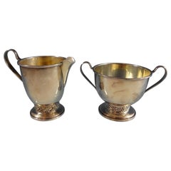 Silver Rose by Oneida Sugar and Creamer Set of 2 Pieces #609