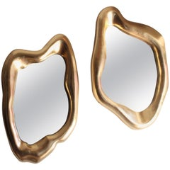 Pair of Gold Mirrors