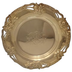 Alvin Sterling Silver Bread and Butter Plate Art Nouveau Daffodil