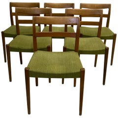 Set of Six Vintage Swedish Dining Chairs by Nils Jonsson for Troeds Bjärnum