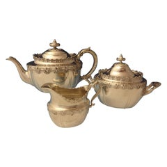 English King by Tiffany & Co. Sterling Silver Tea Set Sugar Creamer 3-Piece