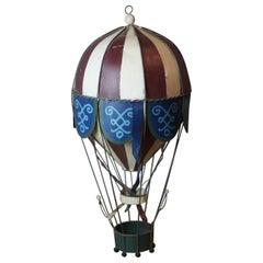 Tin Hot Air Balloon Model