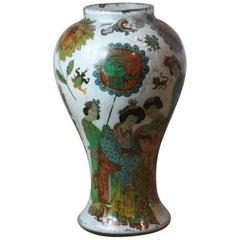 Dekorierte Dekalkomanie-Vase
