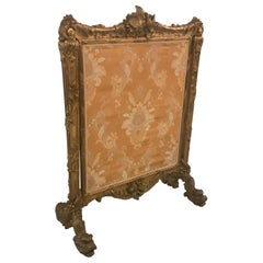 Opulent Large Louis XV Style Antique French Fire Screen