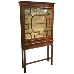 Antique Tall Vitrine Display Cabinet
