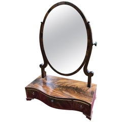 Georgian Mahogany Inlaid Dressing Mirror
