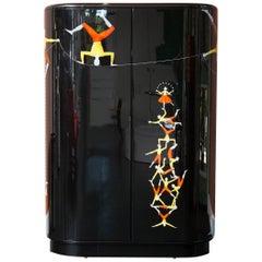 Fornasetti Acrobati Curved Cabinet