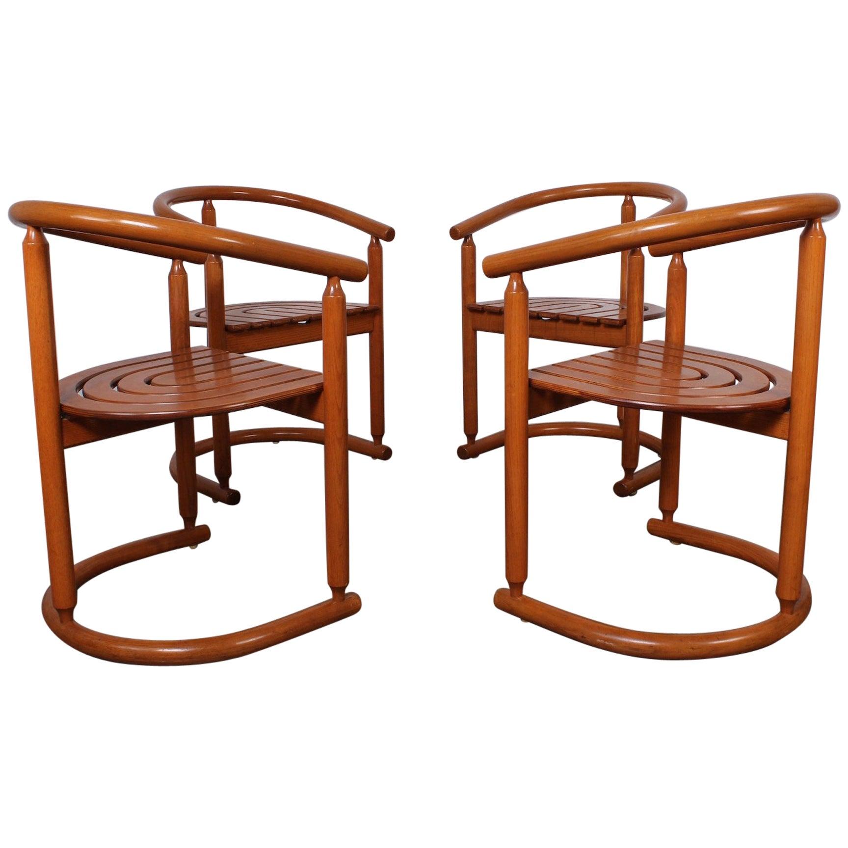 Set of Four Italian Armchairs