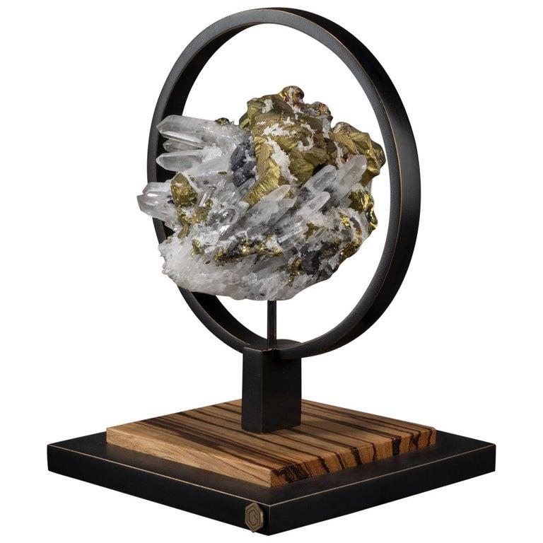 Studio Greytak 'Ouroboros 11' Bronze, Quartz, Sphalerite, and Chalcopyrite For Sale