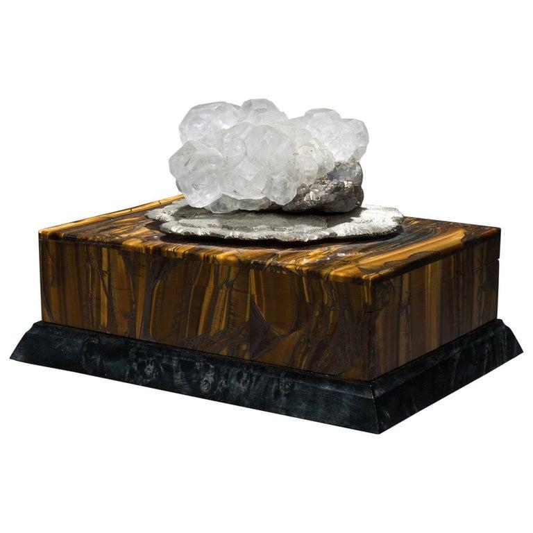 Studio Greytak 'Bling Box 6' Fluorite, Pyrite Sun, Amber, Topaz and Meteorite For Sale