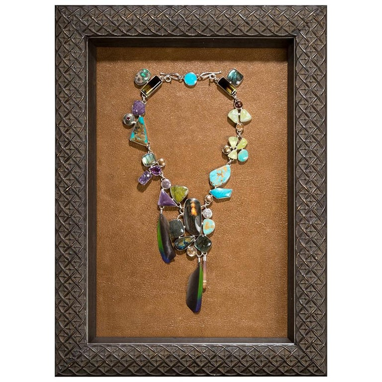 Studio Greytak 'Tulum Treasure Necklace' Framed Necklace -  Display or Wear For Sale