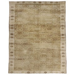 Vintage Turkish Oushak Rug with Warm, Neutral Colors