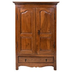 Small Antique French Walnut Armoire