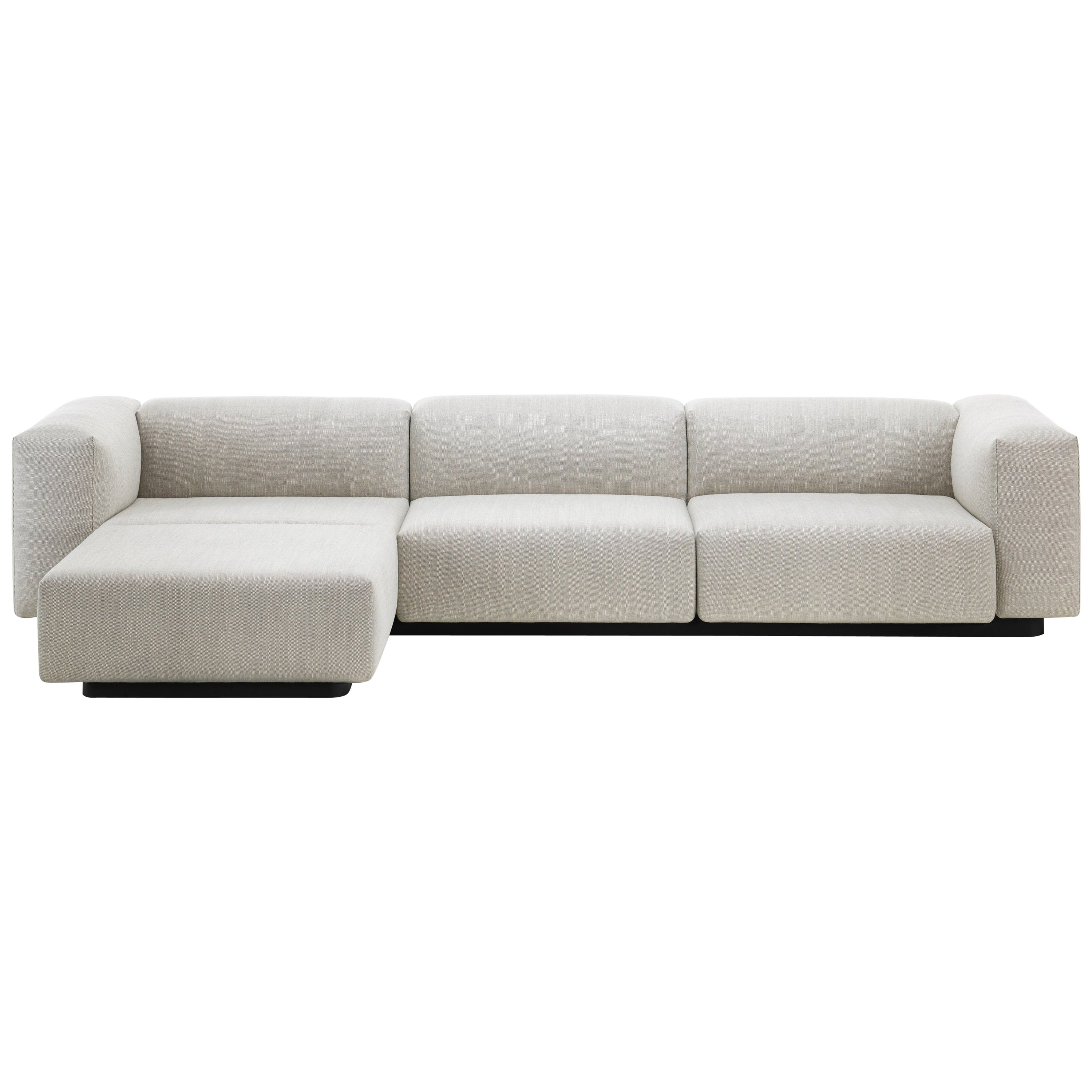 Vitra Soft Modular Sofa With Chaise In Pearl Reed By Jasper Morrison For Sale At 1stdibs