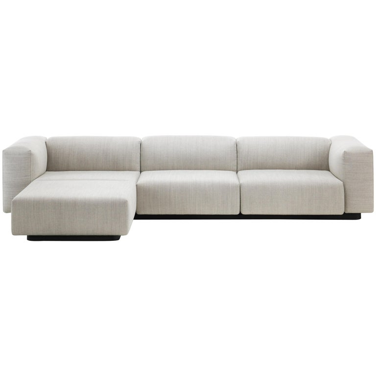 Vitra Soft Modular Three Seat Sofa In Pearl Reed With