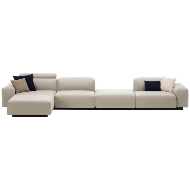 Vitra Soft Modular 4-Seat Sofa with Chaise Lounge and Platform in ...