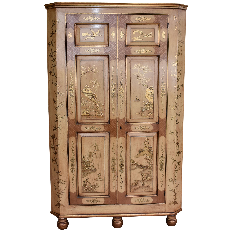 18th Century Chinoiserie Corner Cupboard