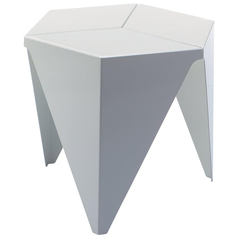 Vitra Prismatic Table in White by Isamu Noguchi For Sale