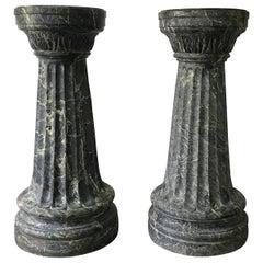 Pair of Antique Italian Marble Columns, Late 19th Century