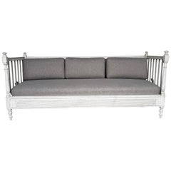 Antique Gustavian Style Settee, Late 19th Century