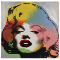 Marilyn Monroe Silver, a Pop-Art Screen-Print by SAK Steve Kaufman