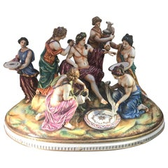Magnificent Italian Hand Painted Porcelain Figure