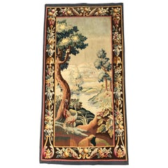 19th Century French Aubusson Verdure Tapestry with Bird and Foliage