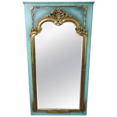 French Trumeau Style Mirror