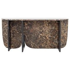 Trilithon Marble Console Table, by Oskar Peet and Sophie Mensen