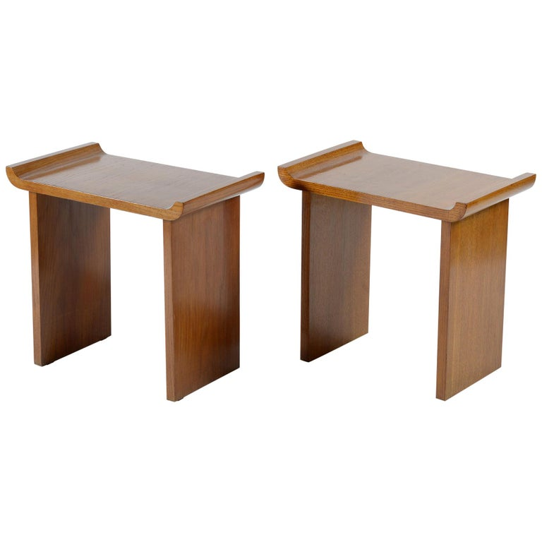 Art Deco Pair of Italian Stools, 1930s For Sale