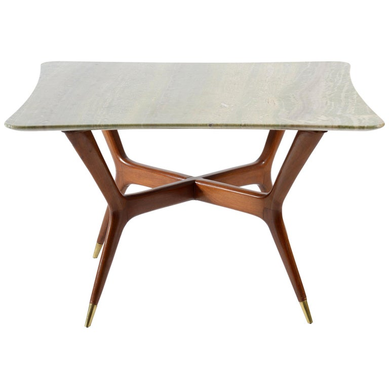 Mid Century Modern Marble Top Coffee Table: Mid-Century Modern Italian Coffee Table Marble Top, 1950